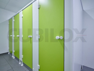 Cubilox Manufacturer Compact Laminate Board Toilet Partition